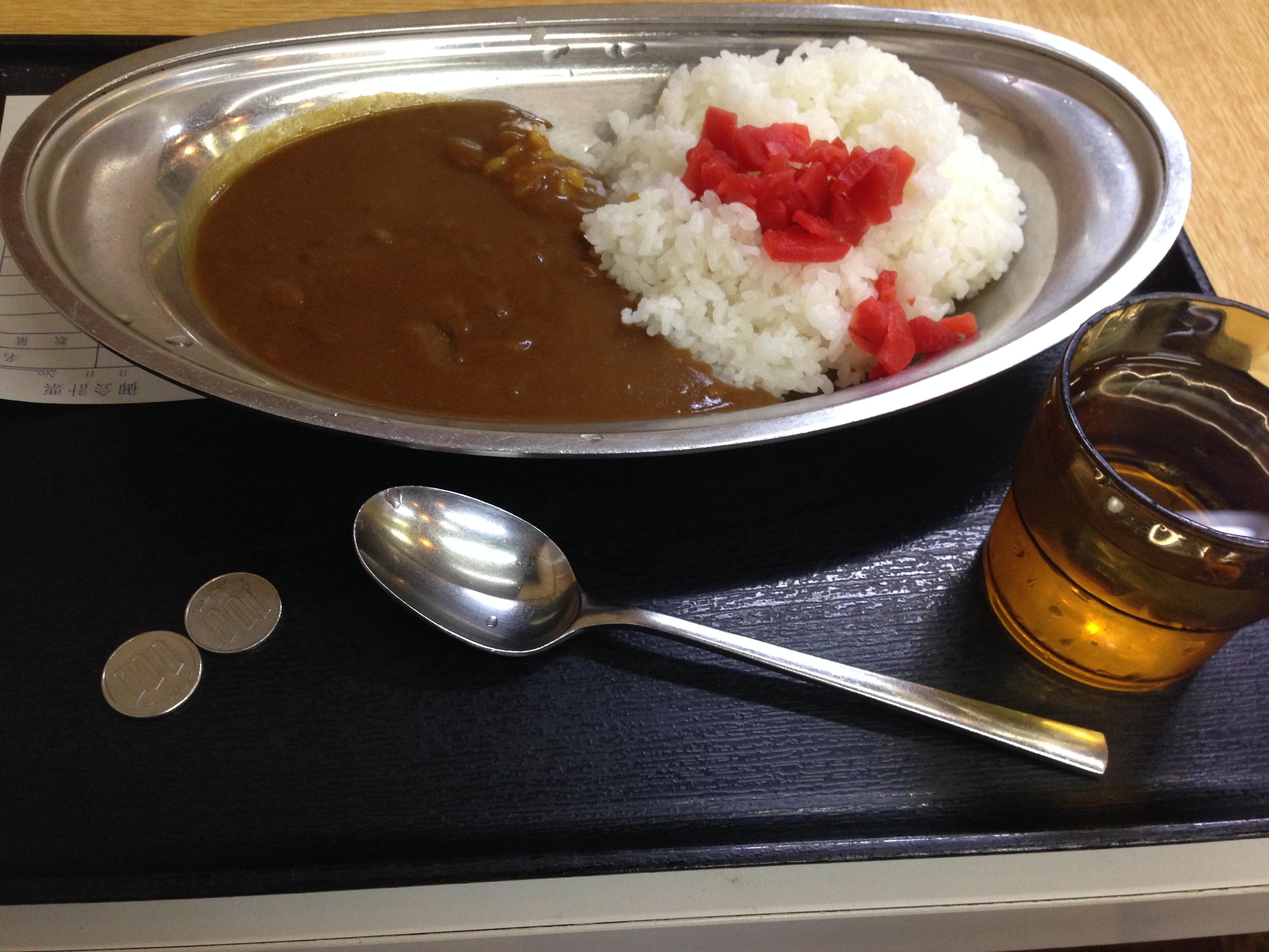 カレーが190円で食べられる?西日暮里のはってん食堂のコスパがいい!!
